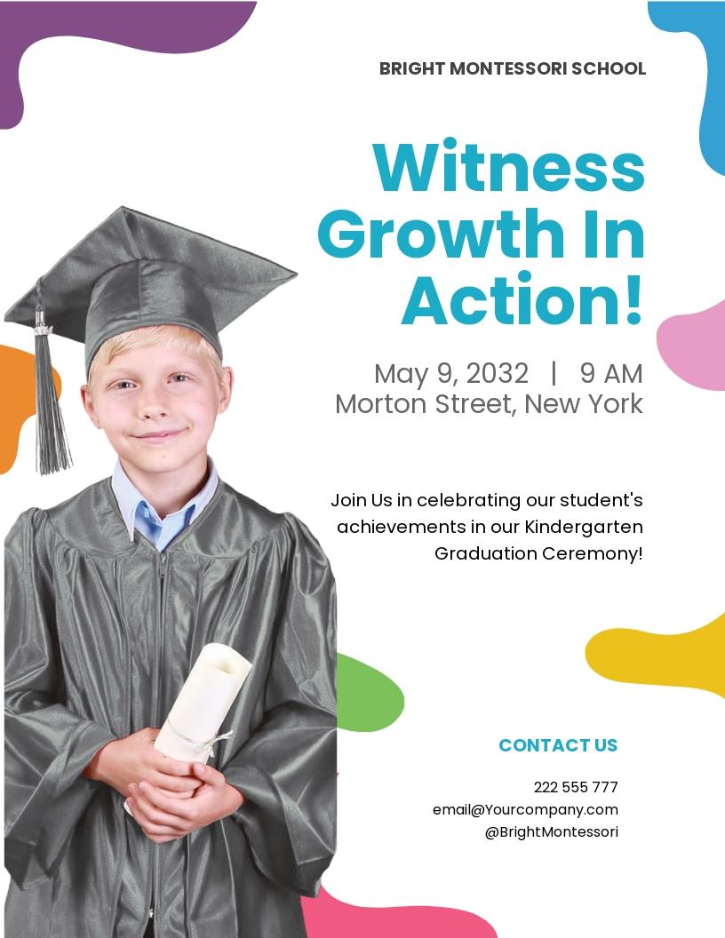 Kindergarten Graduation Flyer Template