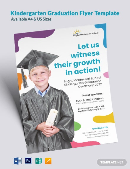 Kindergarten Graduation Flyer Template