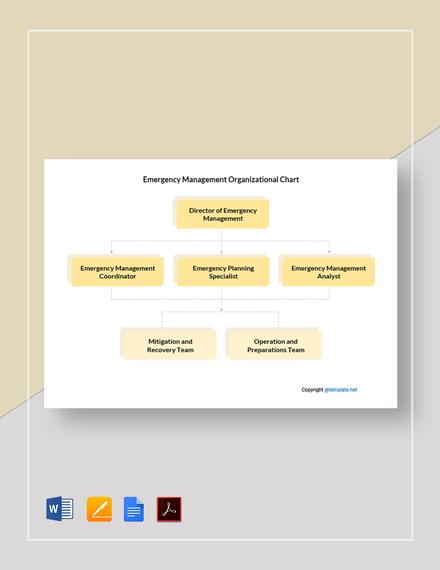 Free Emergency Management Organizational Chart Template