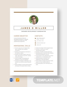 Business Development Coordinator Resume Template