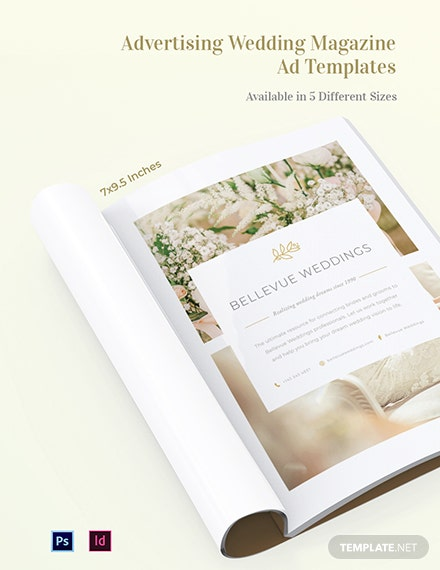 Free Advertising Wedding Magazine Ads Template