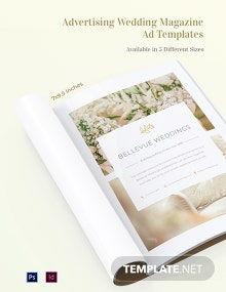 Advertising Wedding Magazine Ads Template