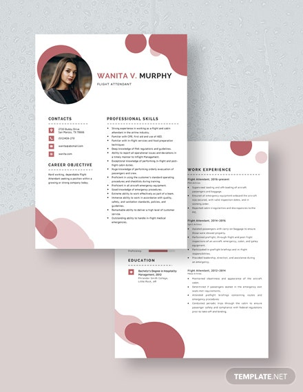 Flight Attendant Resume Download