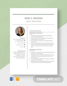 Flight Dispatcher Resume Template