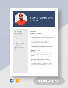PT Assistant Resume Template
