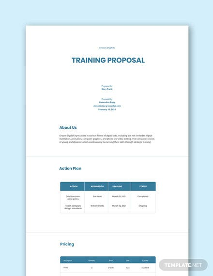 70 Free Proposal Templates Word Psd Google Docs Indesign Apple Mac Pages Publisher Template Net