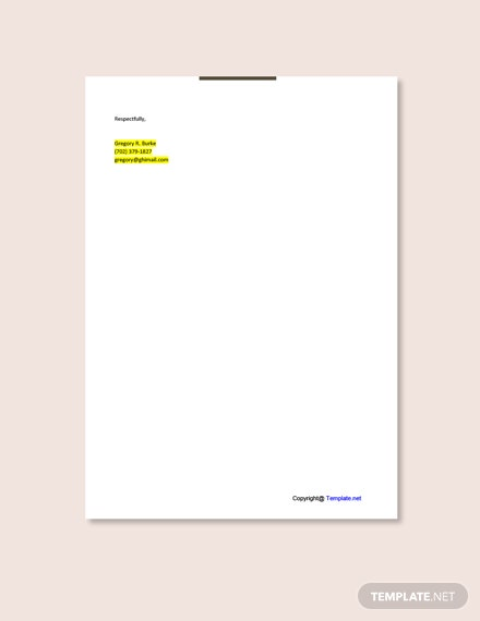 Hotel Consultant Cover Letter Template