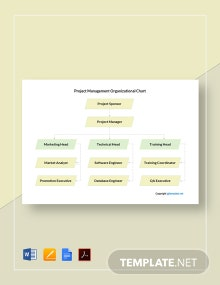 Simple Project Management Organizational Chart Template