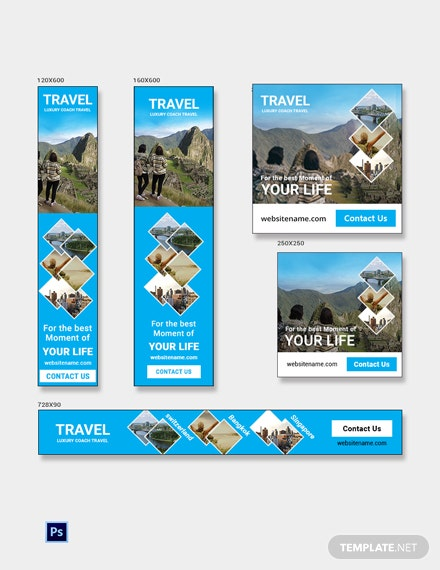 Free Travel Agency Banner Ads Template