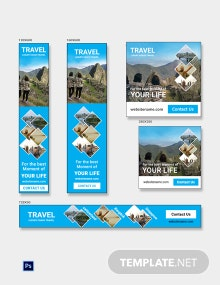 Travel Agency Banner Ads Template