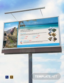 Free Travel Agency Billboard Template