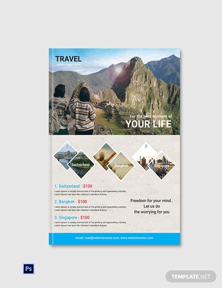 Free Travel Agency eBook Cover Page Template