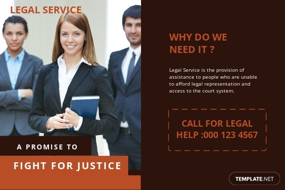 Legal Services Postcard Template