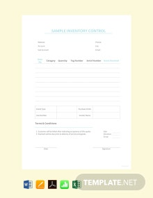 Free Sample Inventory Control Template