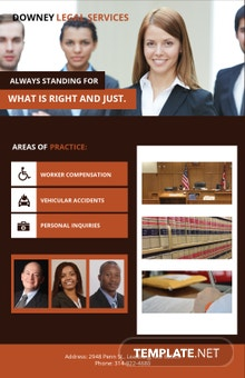 Free Legal Services Poster Template