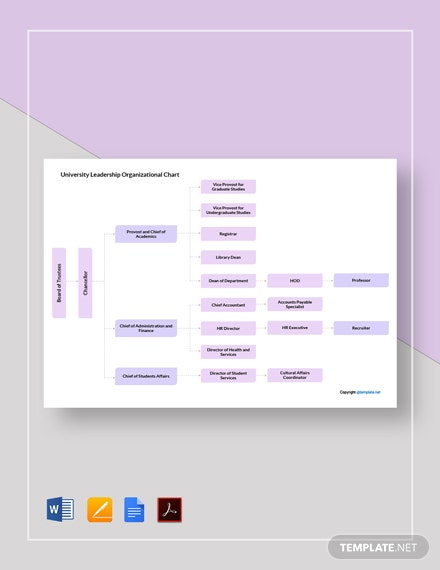 Free University Leadership Organizational Chart Template