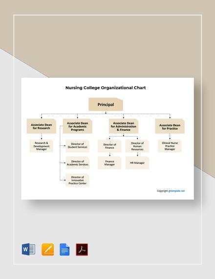 Free Nursing College Organizational Chart Template