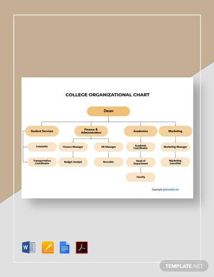 Free Sample College Organizational Chart Template