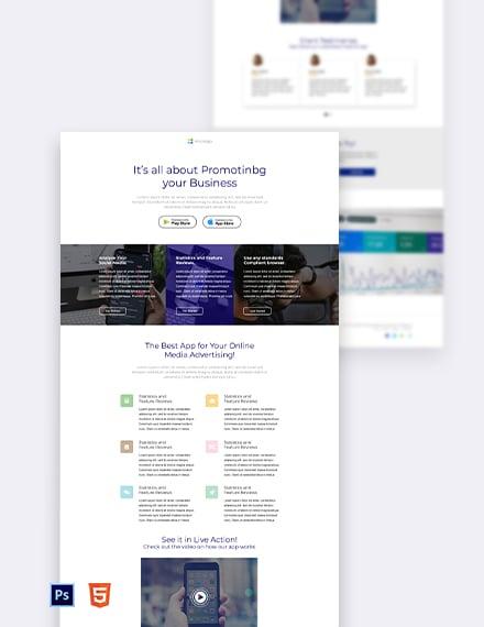Free Simple App Landing Page Template