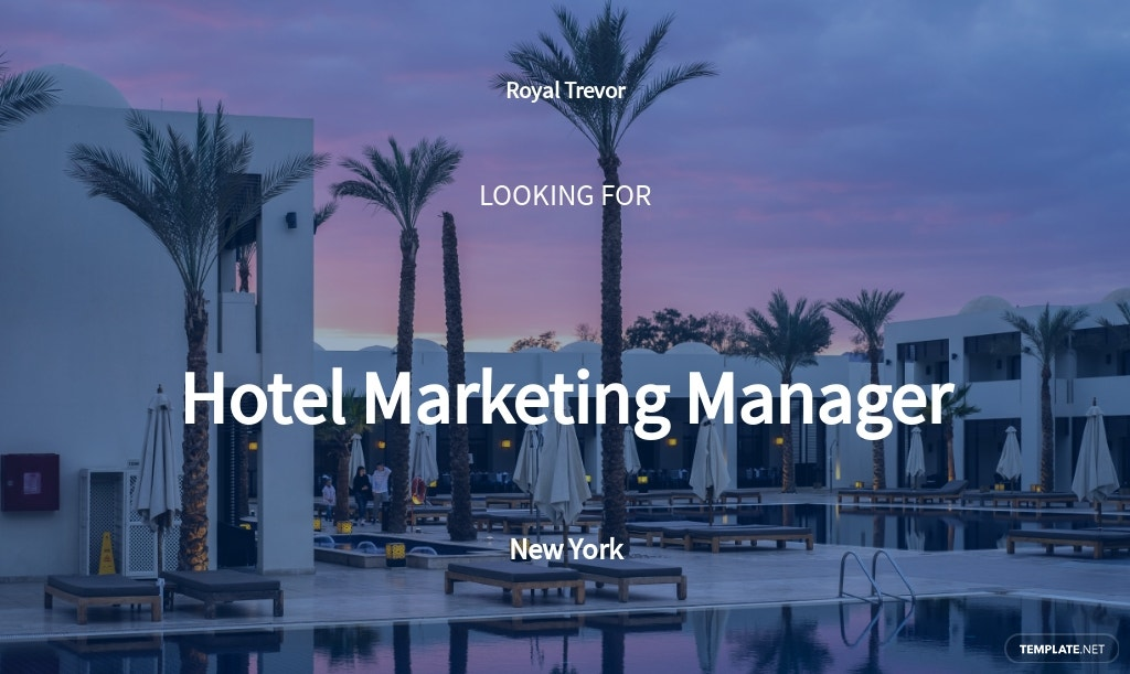 Hotel Marketing Manager Job Description Template