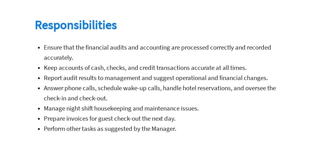 Free Hotel Night Auditor Job Ad/Description Template 3.jpe
