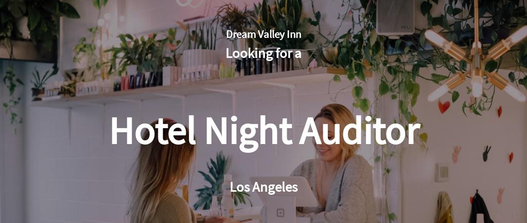 Free Hotel Night Auditor Job Ad/Description Template.jpe
