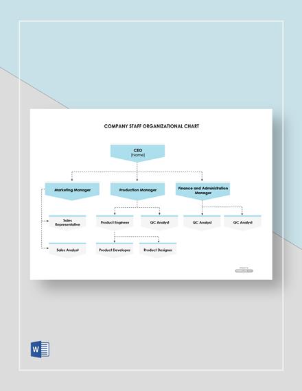 Free Company Staff Organizational Chart Template