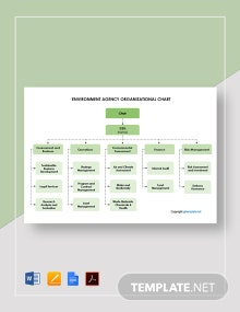 Free Environment Agency Organizational Chart Template