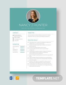 Patient Relations Coordinator Resume Template