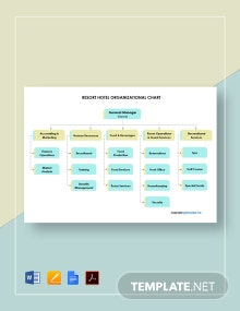 Free Resort Hotel Organizational Chart Template