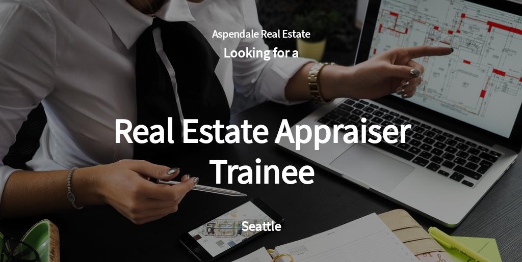 Real Estate Appraiser Trainee Job Description Template