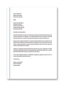 Business Loan Application Letter Template