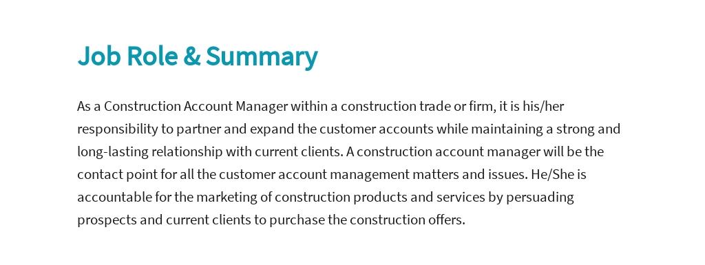 Free Construction Account Manager Job Ad/Description Template 2.jpe