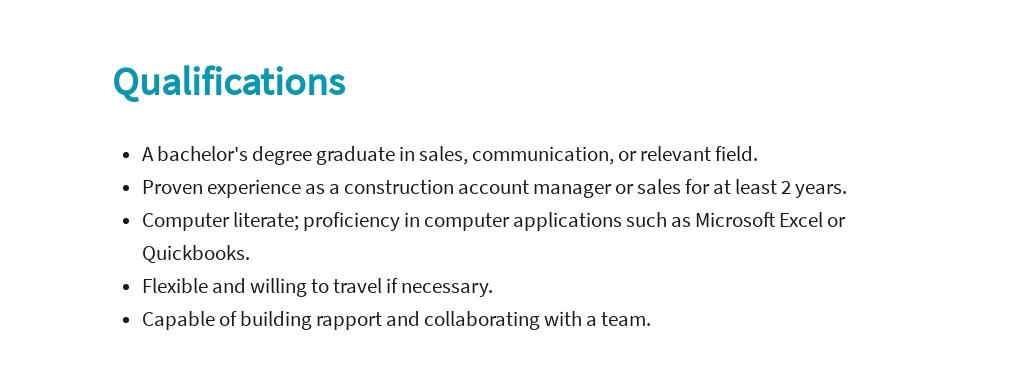 Free Construction Account Manager Job Ad/Description Template 5.jpe
