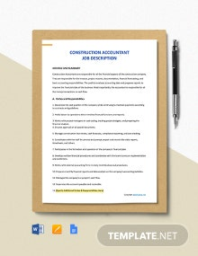 Free Construction Accountant Job Ad/Description Template