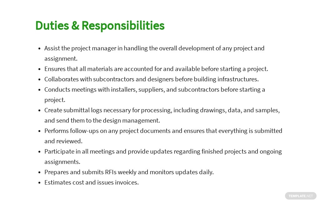 Free Construction Assistant Project Manager Job Ad and Description Template 3.jpe