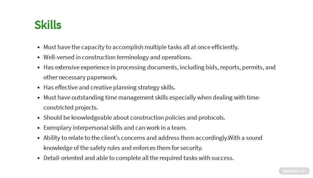 Free Construction Assistant Project Manager Job Ad and Description Template 4.jpe