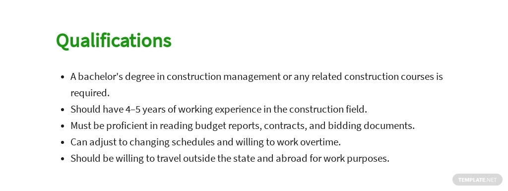 Free Construction Assistant Project Manager Job Ad and Description Template 5.jpe
