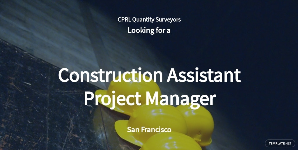 Free Construction Assistant Project Manager Job Ad and Description Template.jpe