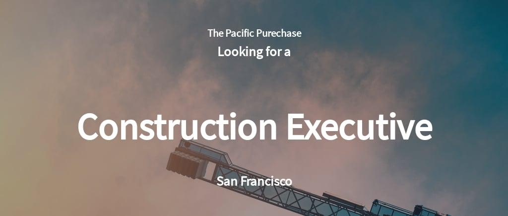 Free Construction Executive Job Ad/Description Template.jpe
