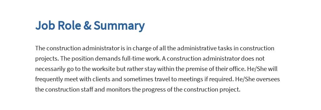 Free Construction Administrator Job Ad and Description Template 2.jpe