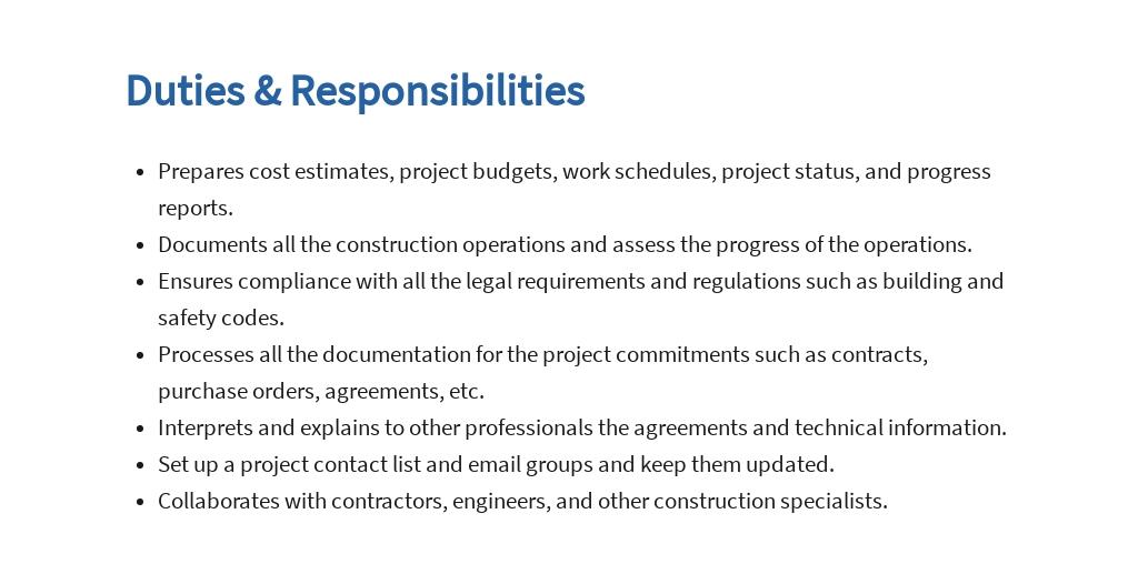 Free Construction Administrator Job Ad and Description Template 3.jpe