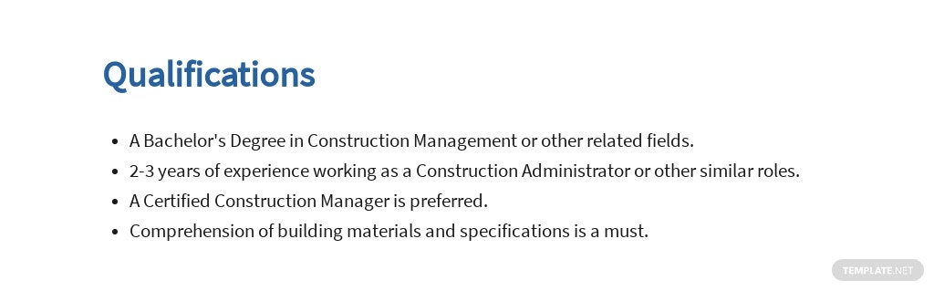 Free Construction Administrator Job Ad and Description Template 5.jpe