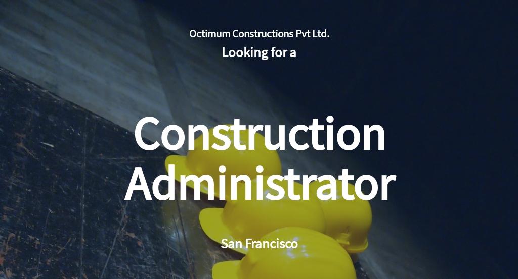 Free Construction Administrator Job Ad and Description Template.jpe