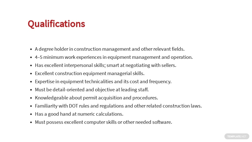 Free Construction Equipment Manager Job Ad and Description Template 5.jpe