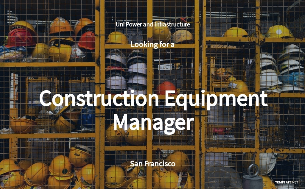 Free Construction Equipment Manager Job Ad and Description Template.jpe