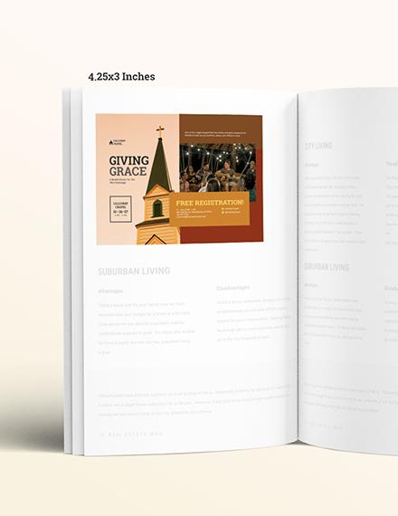 Autumn Church Magazine Ads Example