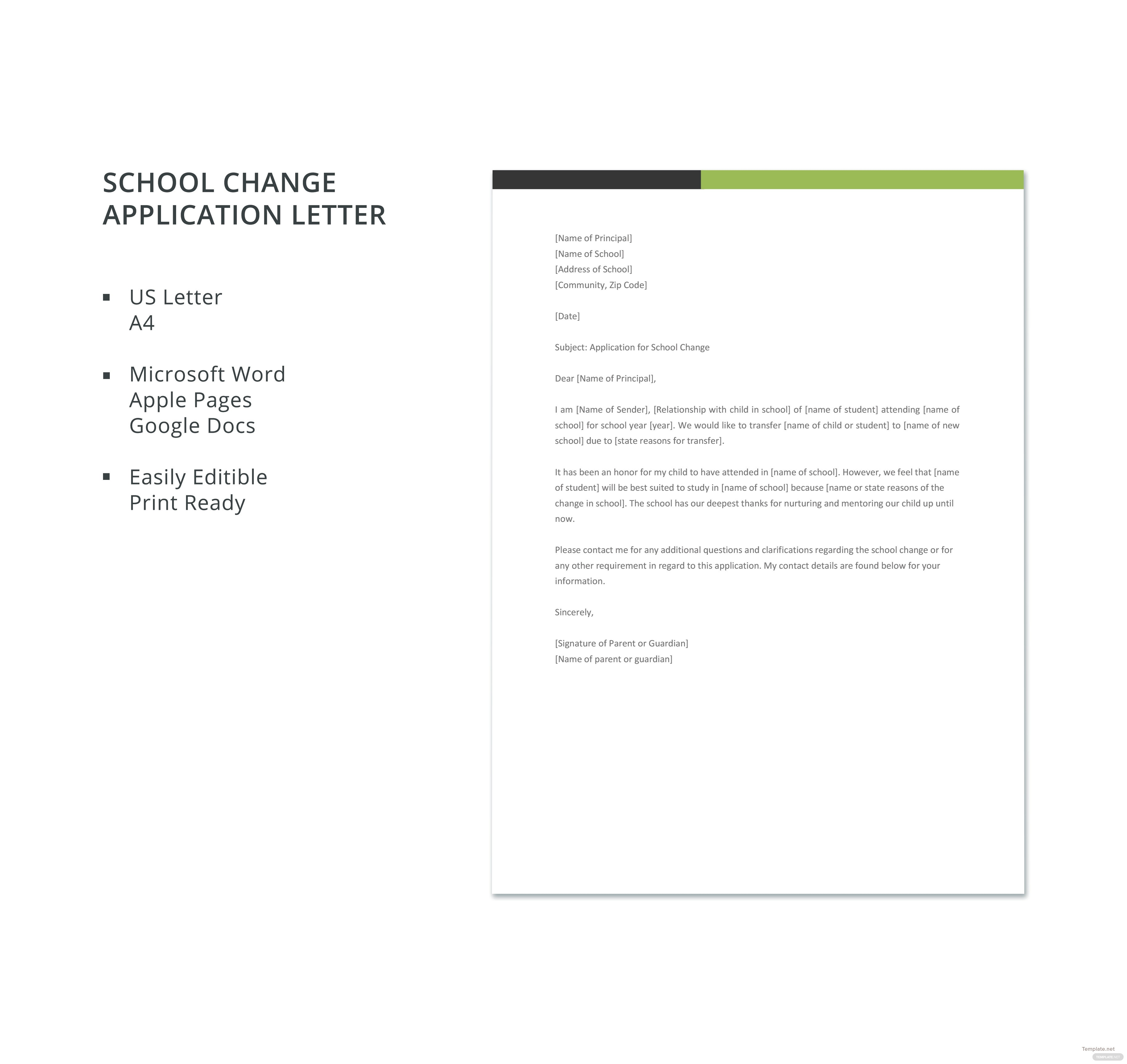 School change application letter template in microsoft word apple click to see full template school change application letter spiritdancerdesigns Image collections