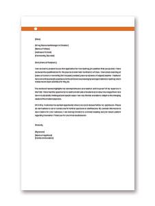 Application Letter for Teaching Job in School