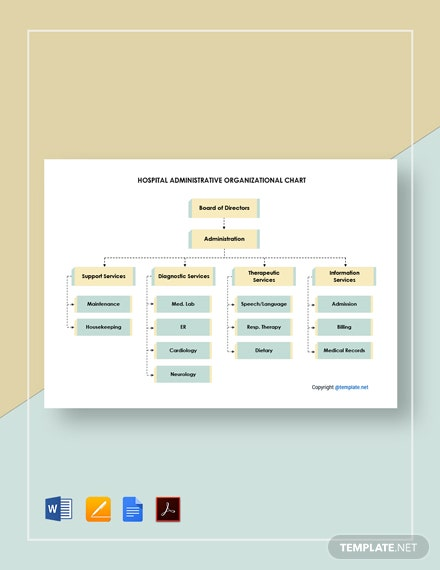 Free Hospital Administrative Organizational Chart Template
